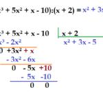 Matemática - Álgebra - Divisão de expressões algébricas.